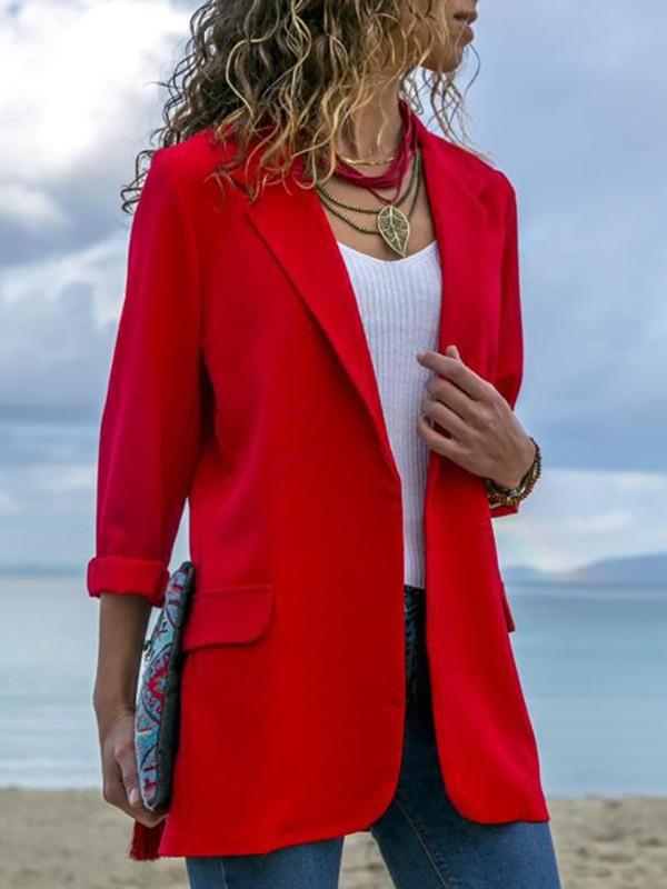 Solid Open Front Long Sleeve Oversize Coat