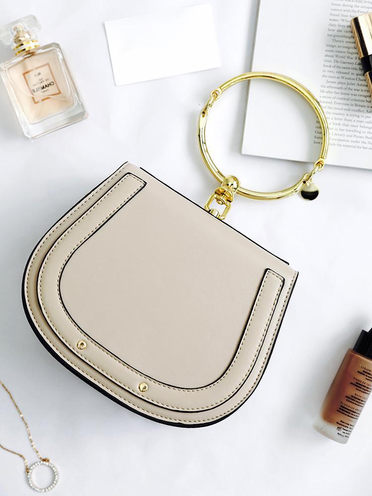 Circle Handle Design Single Shoulder Bag
