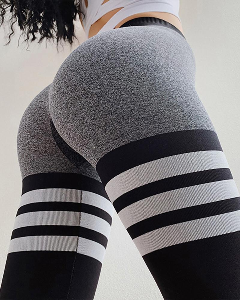 High Waisted Knitted Circle Seamless Legging фото
