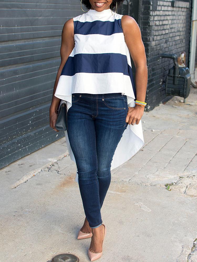 Fashion Stripes Dovetail Tank Top