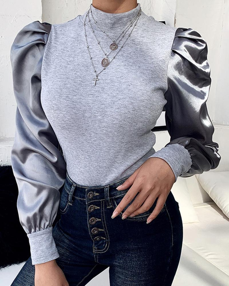chicme / Blusa casual com mangas bufantes