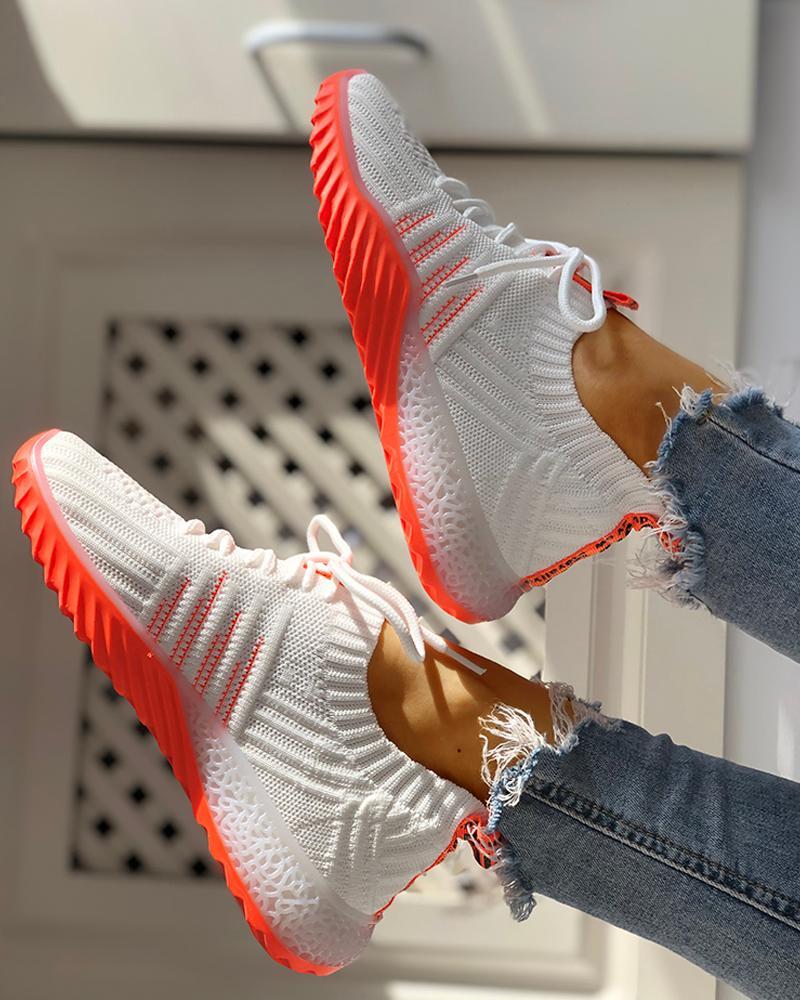 boutiquefeel / Zapatillas Yeezy con cordones transpirables de punto Colorblock