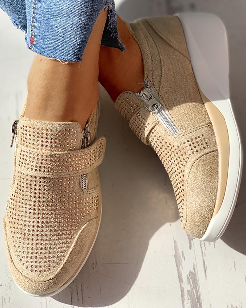 boutiquefeel / Zapatillas de muffin ocasionales transpirables de punto
