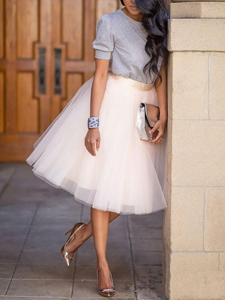 Adorable Bridesmaid Midi Tulle Skirt