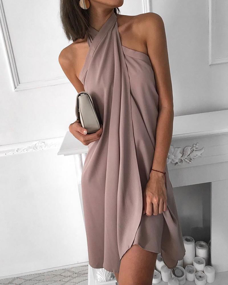 boutiquefeel / Vestido sin mangas acanalado sin mangas