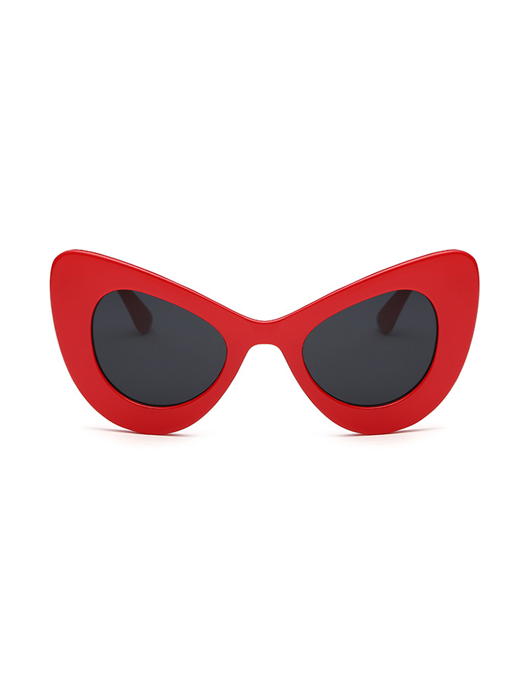 Butterfly Shape UV Protection Lens Sunglasses - Red