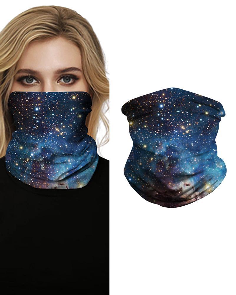 Sparkle Sky Print Face Bandana Magic Scarf Headwrap Balaclava, Style4
