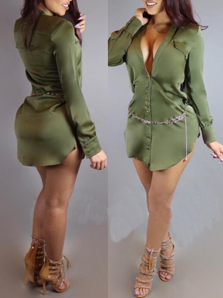 Women's Sexy Satin Casual Blouse
