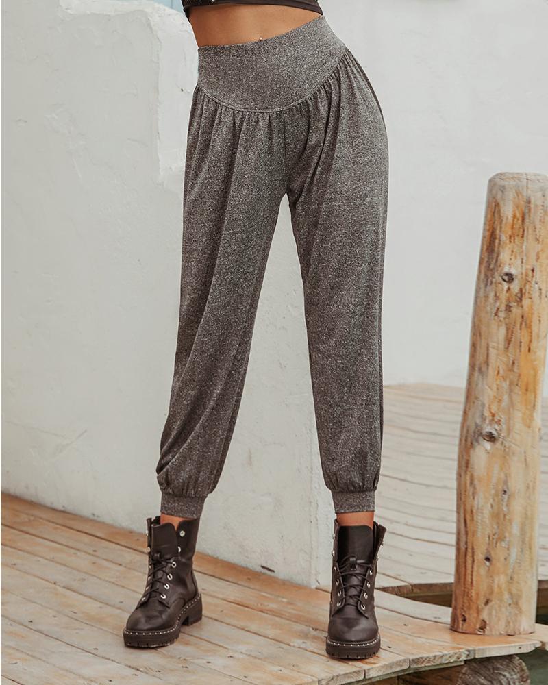 Wide Waistband Loose Casual Pants фото