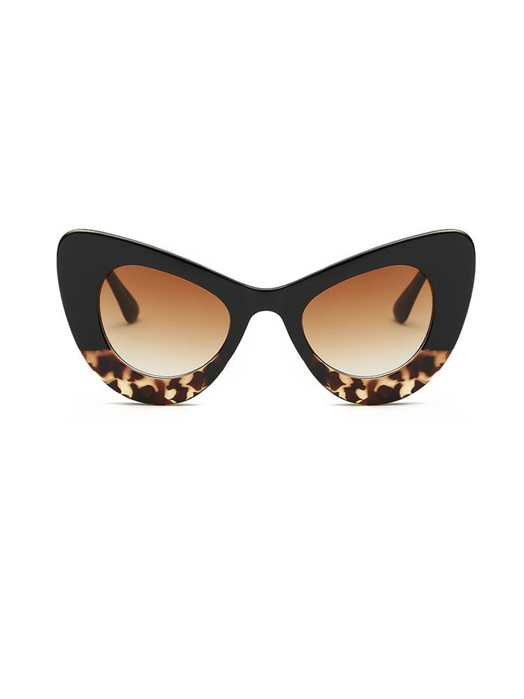 Butterfly Shape UV Protection Lens Sunglasses - Leopard