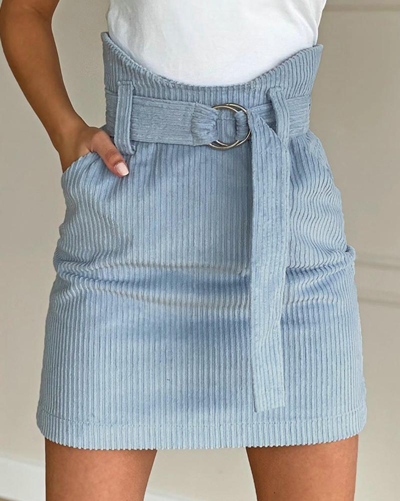 boutiquefeel / Falda sólida con diseño de bolsillo