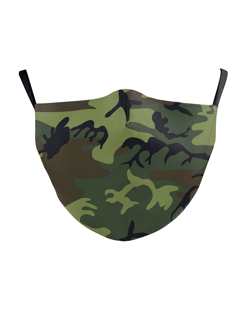 Camouflage Print Breathable Face Mask фото