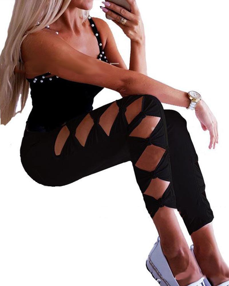 Bowknot Cutout Side Skinny Jean фото