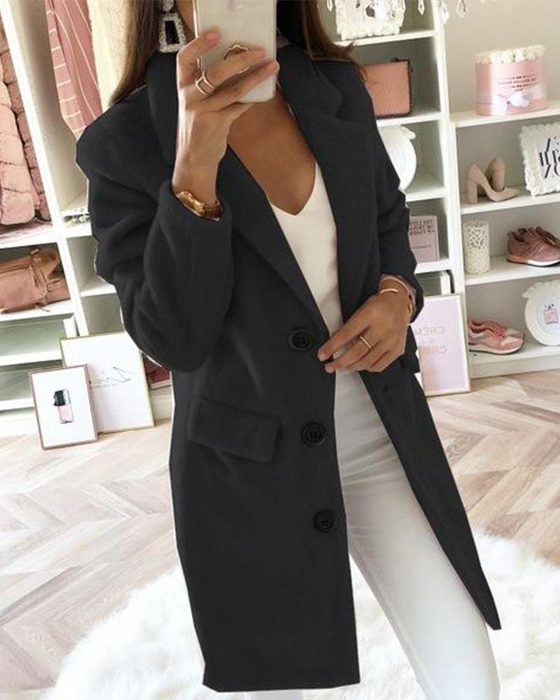 Shawl Collar Button Coat фото