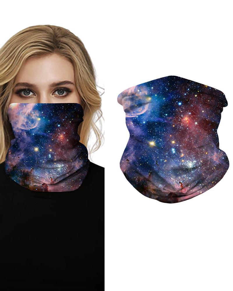 Sparkle Sky Print Face Bandana Magic Scarf Headwrap Balaclava, Style3