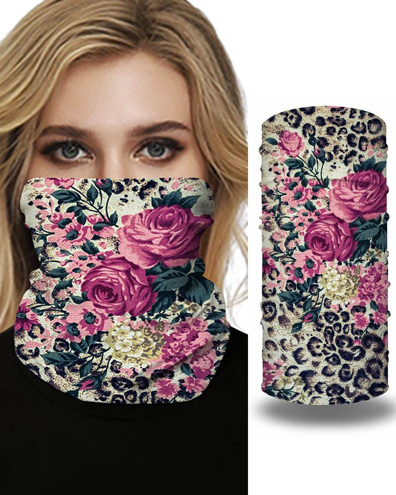 Floral Print Breathable FaceBandana Magic Scarf Headwrap Balaclava фото