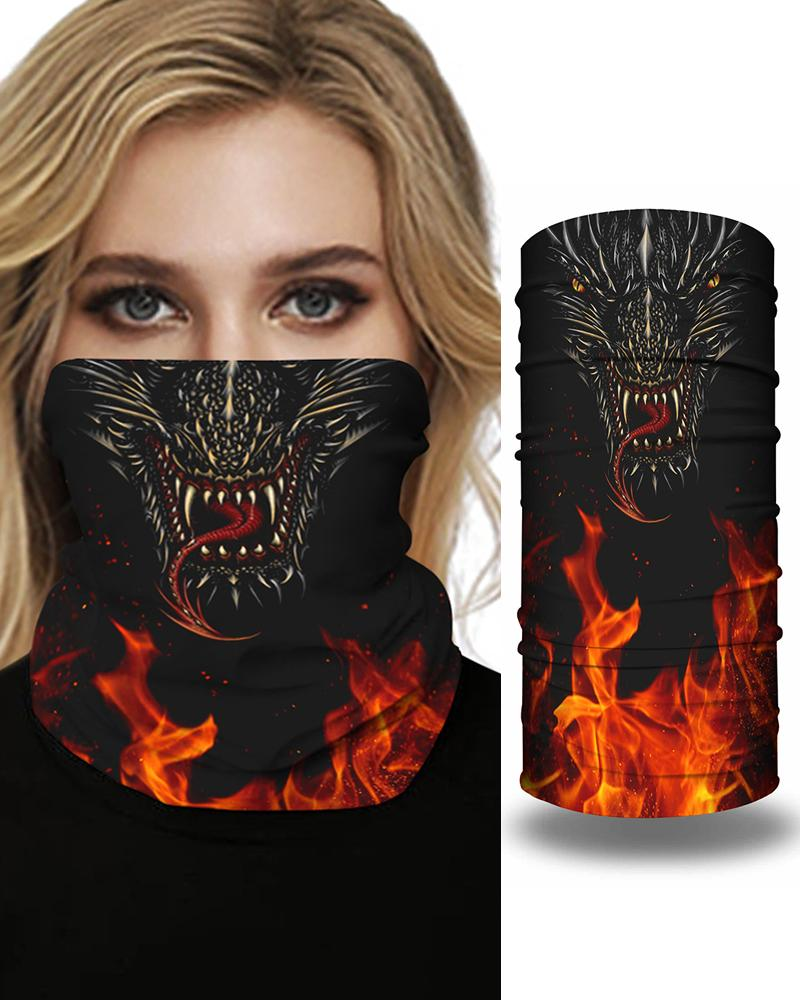 Skull Girl Cartoon Animal Print Breathable FaceBandana Magic Scarf Headwrap Balaclava фото
