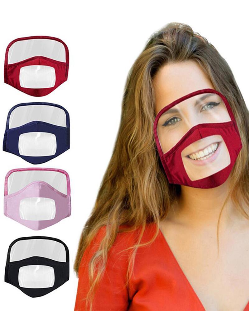 boutiquefeel / Mascarilla con ventana transparente Expresión visible para sordos y con problemas de audición