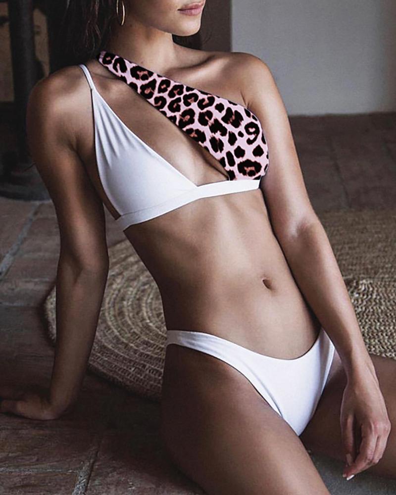 Cutout Leopard Print Bikini Set фото