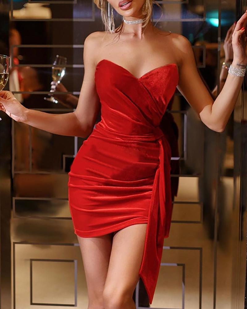 boutiquefeel / Vestido de fiesta drapeado con pliegues