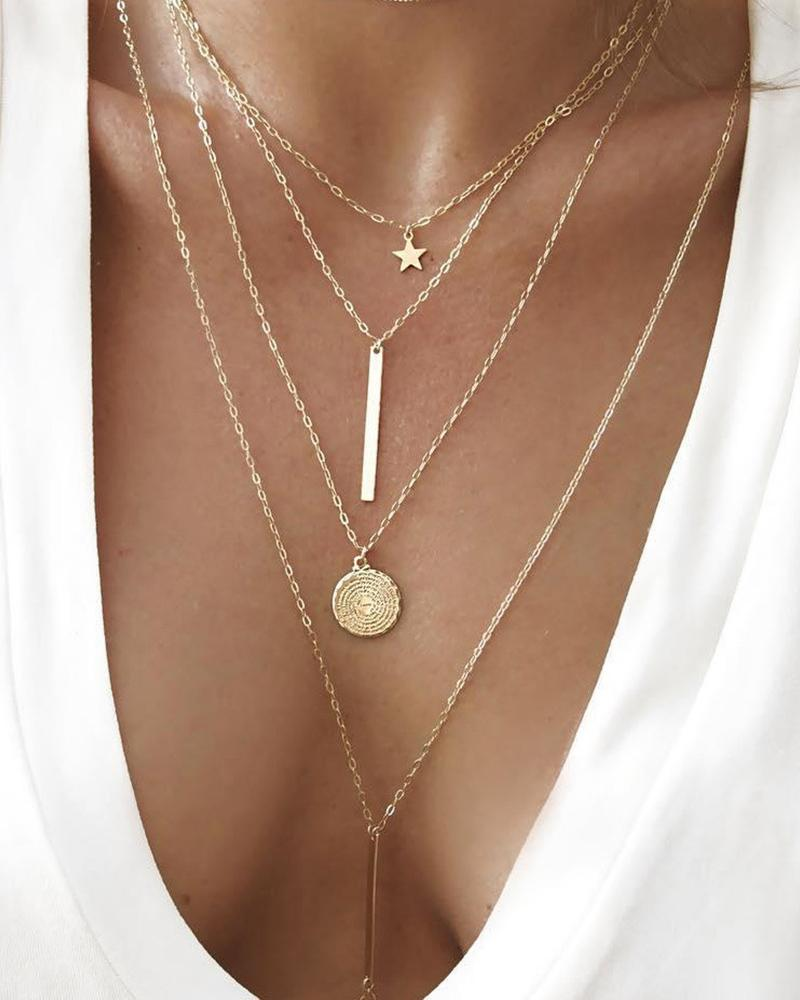 Tiered Star Pendant Necklace фото