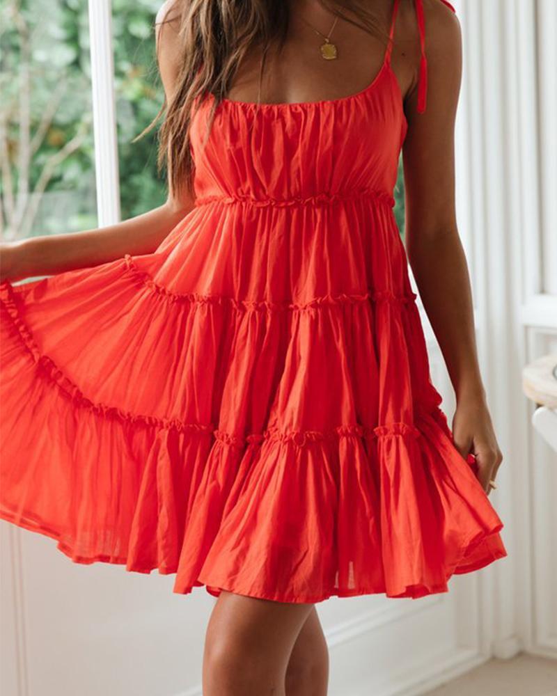 joyshoetique / Solid color lace skirt sexy dress