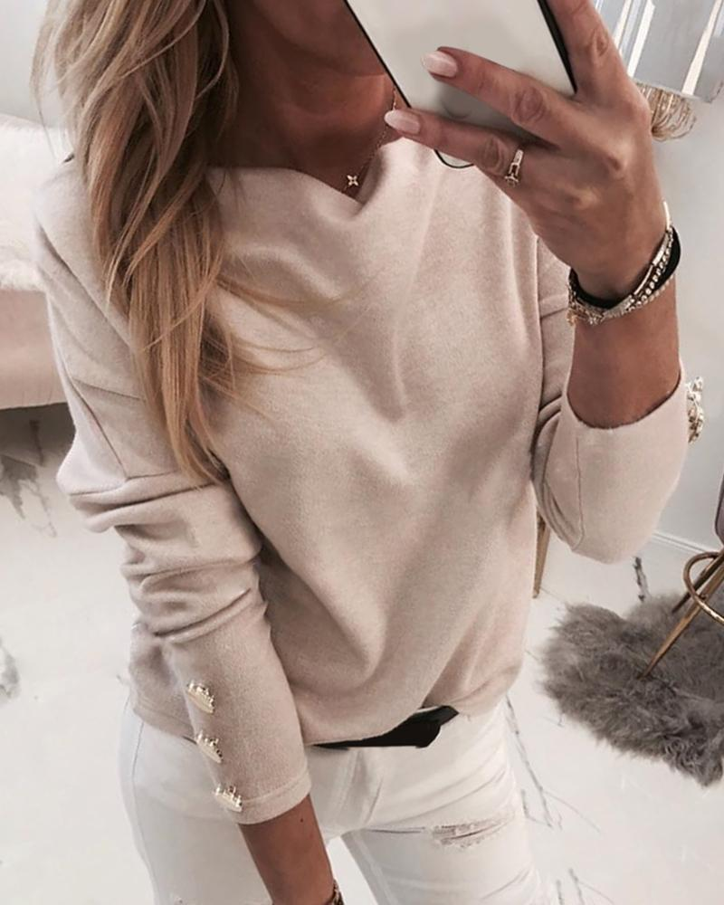 Batwing Long Sleeve Buttoned Blouse фото
