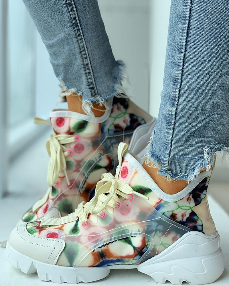 chicme / Zapatillas casual transpirables con estampado floral