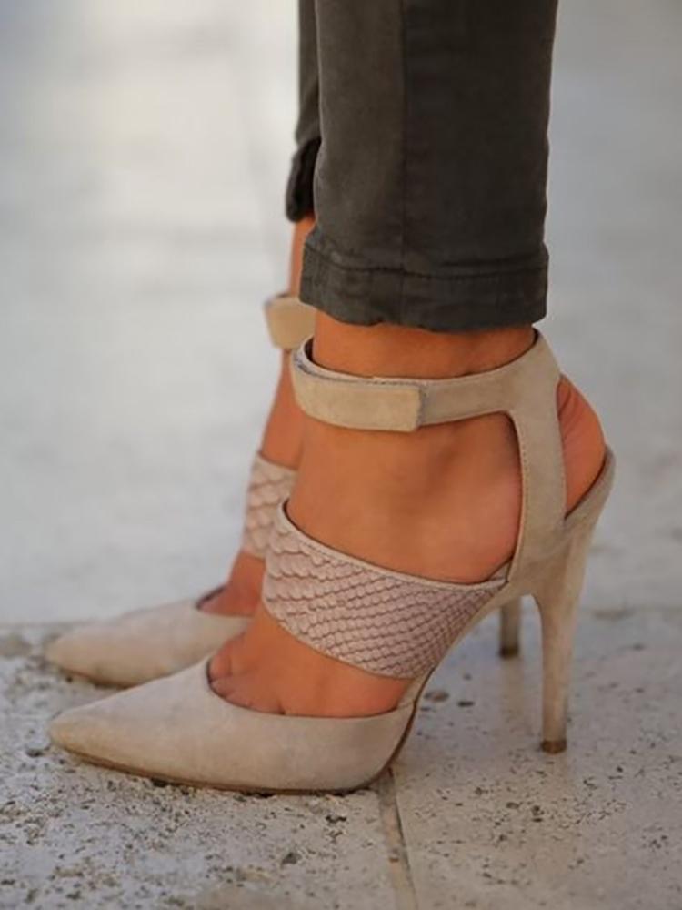 Hollow Bandage Stiletto High Heels