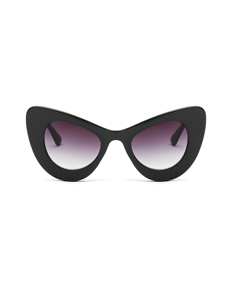 Butterfly Shape UV Protection Lens Sunglasses - Black