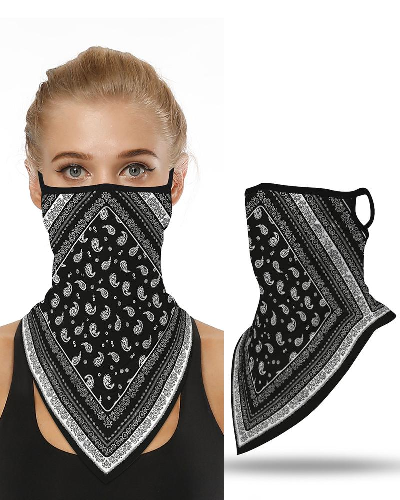 Print Breathable Ear Loop Face Cover Bandana Outdoor фото