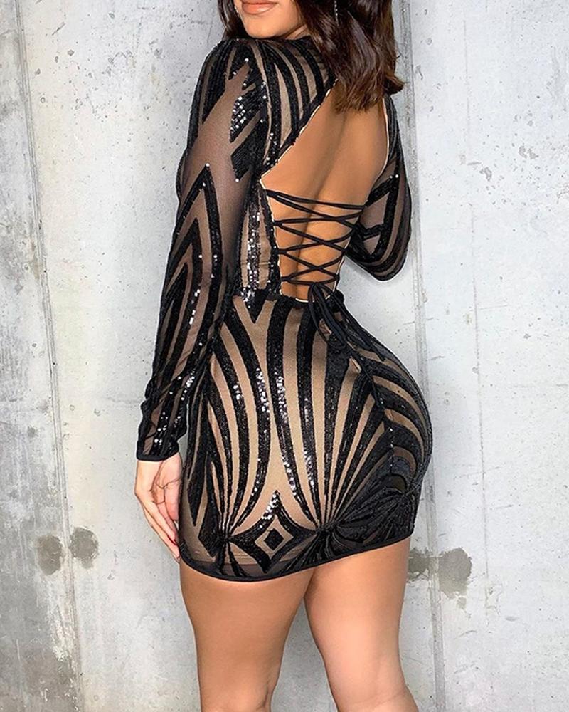 chicme / Sem Costas Com Tiras Bodycon Mini Vestido