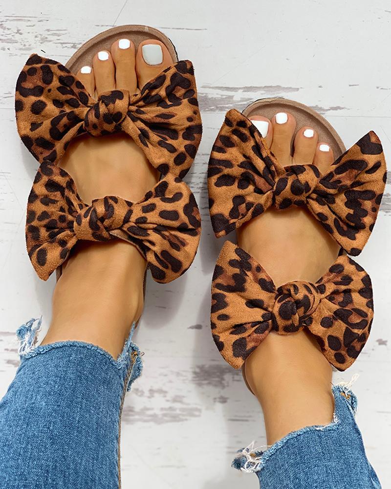 Bowknot Design Casual Flat Sandals фото