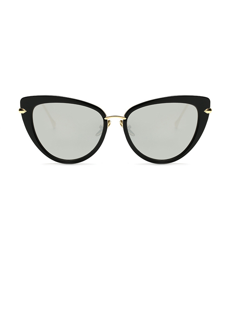 Vintage Cat Eye Lens Sunglasses - Silver