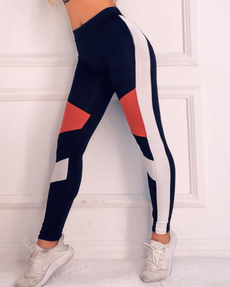 Active Contrast Color Leggings