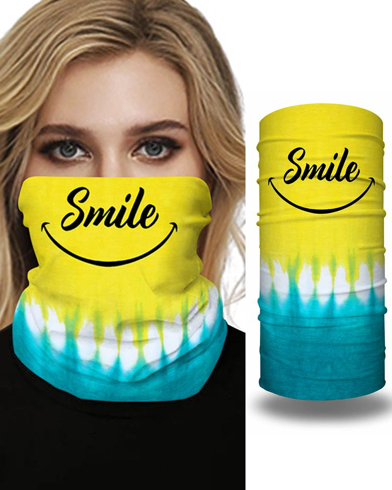 Tie Dye Letter Print Breathable FaceBandana Magic Scarf Headwrap Balaclava фото