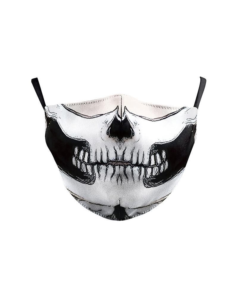 Skull Cartoon Print Breathable Face Mask фото