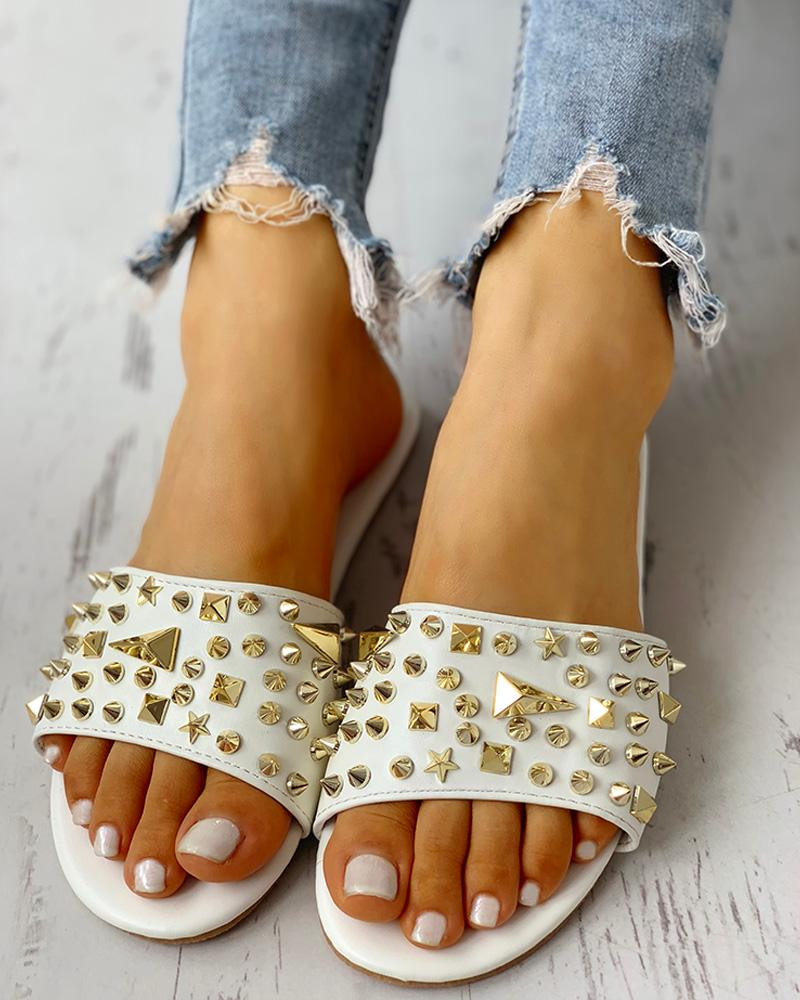 Rivet Design Casual Flat Sandals фото
