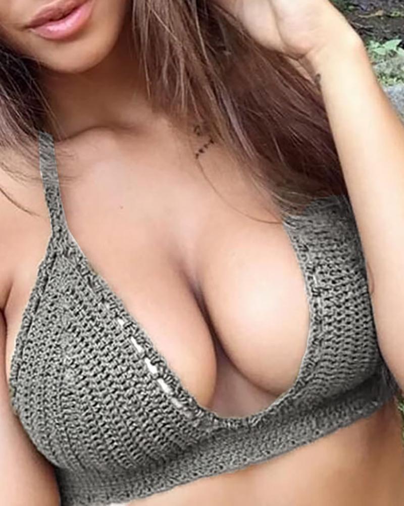Halter Crochet Bikini Top фото