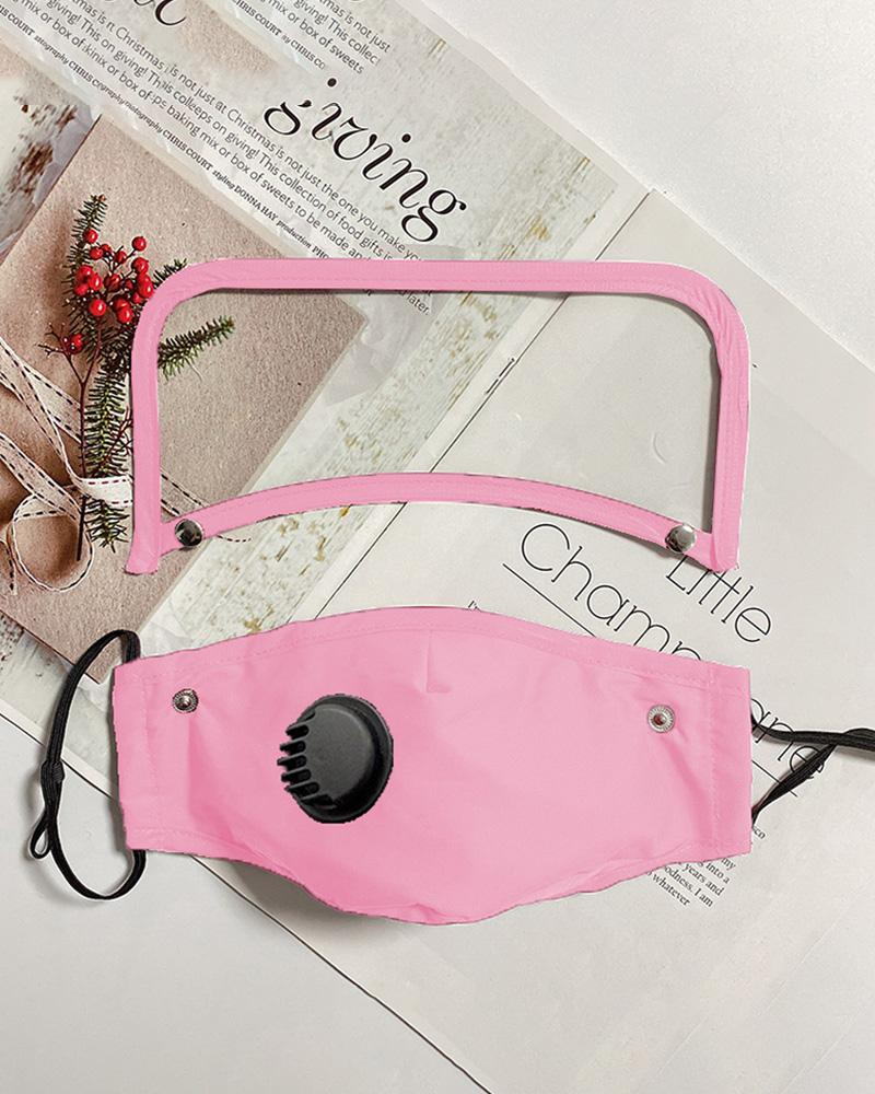 Detachable Valve Face Mask With Eyes Shield фото
