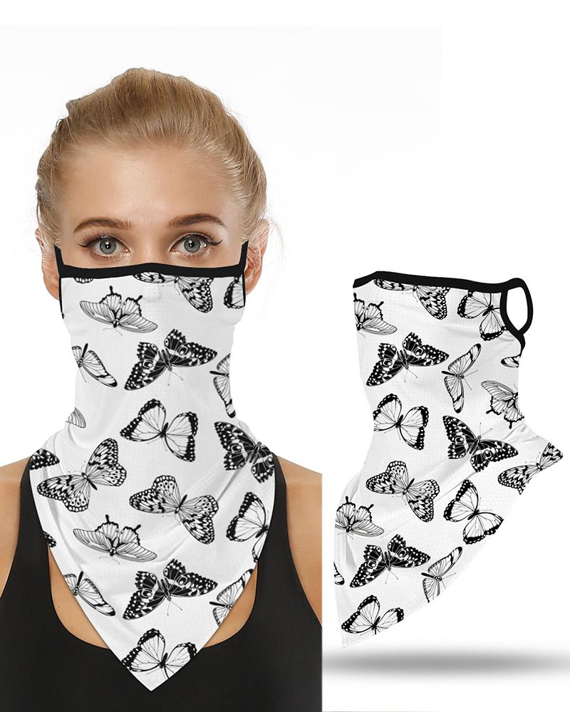 Butterfly Print Breathable Ear Loop Face Cover Windproof Motorcycling Dust Outdoors фото