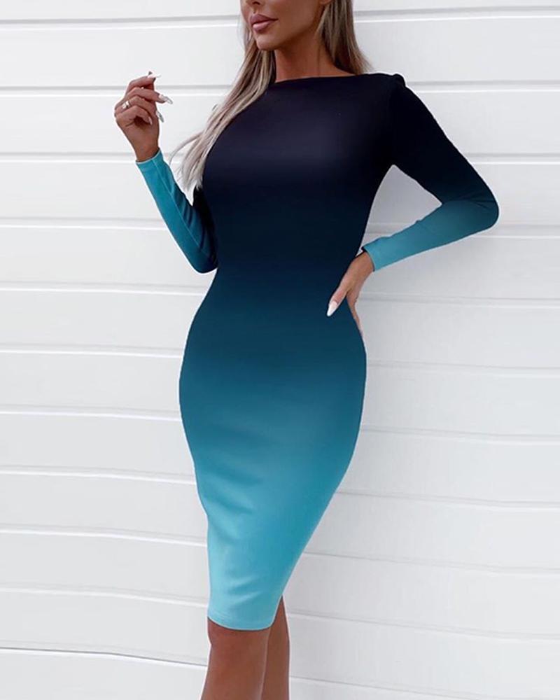 Dip-Dyed Bodycon Midi Dress фото