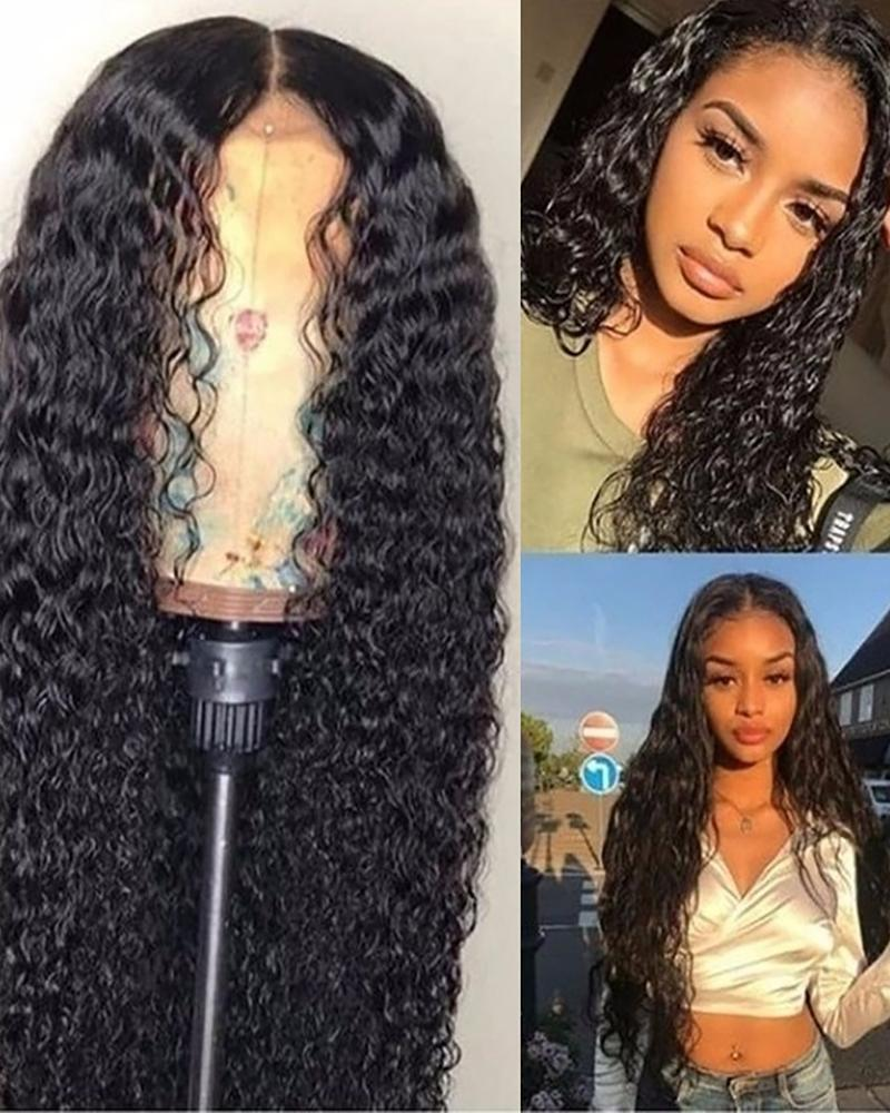 Long Headband Wigs Curly Hair Wigs Glueless Deep Curly Synthetic Wig