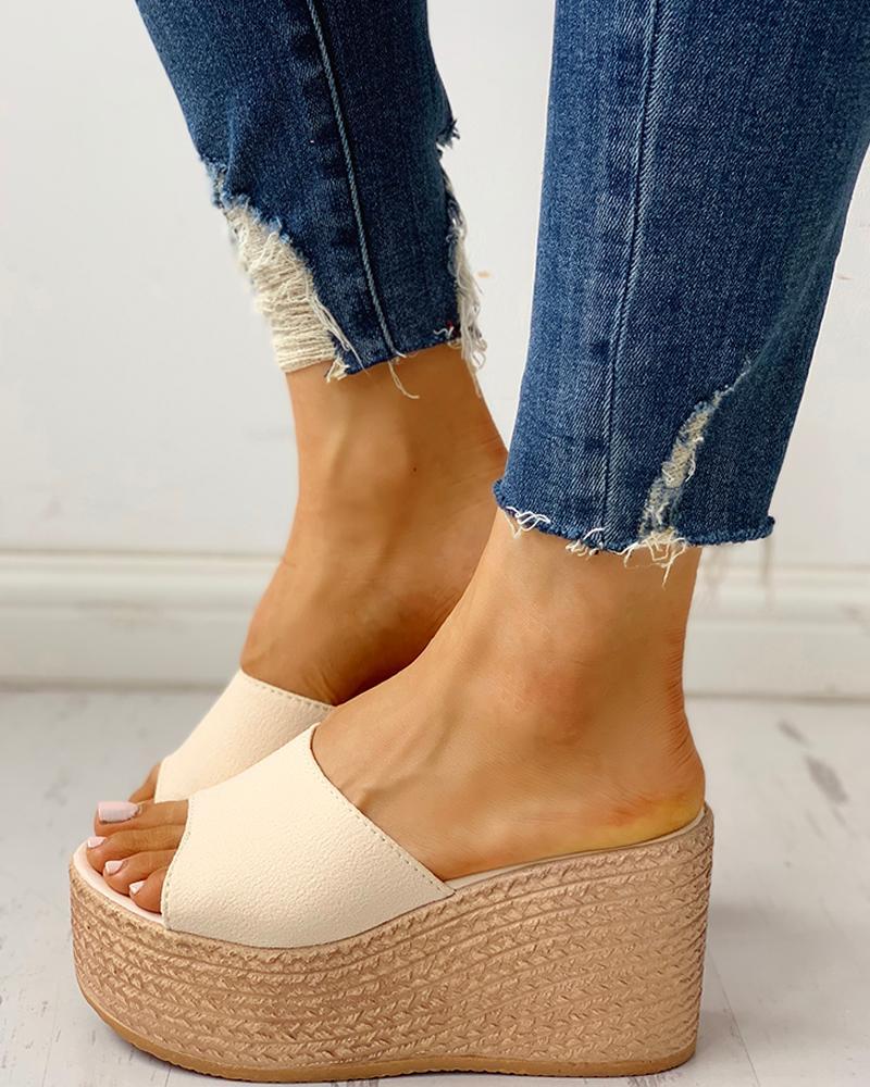 Summer Platform Espadrille Wedge Sandals