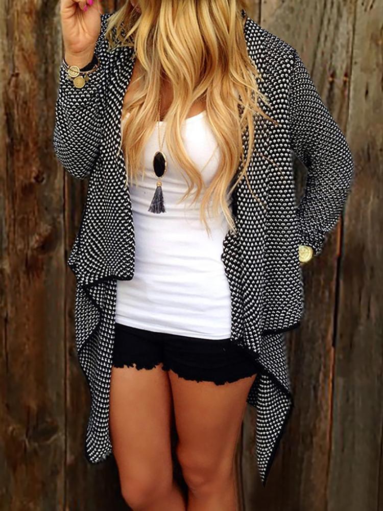 Women Irregular Slim Fit Cardigan Coat