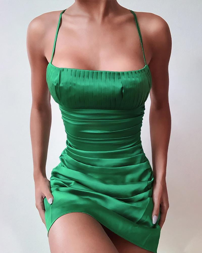 boutiquefeel / Vestido de Festa Ruched Strap Spaghetti