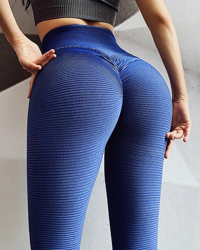 chicme / Pantalones de yoga sólidos de cintura alta