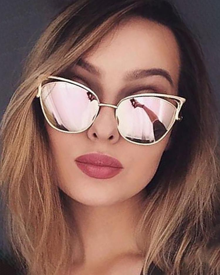 Fashion Cat Eye Lens Sunglasses фото