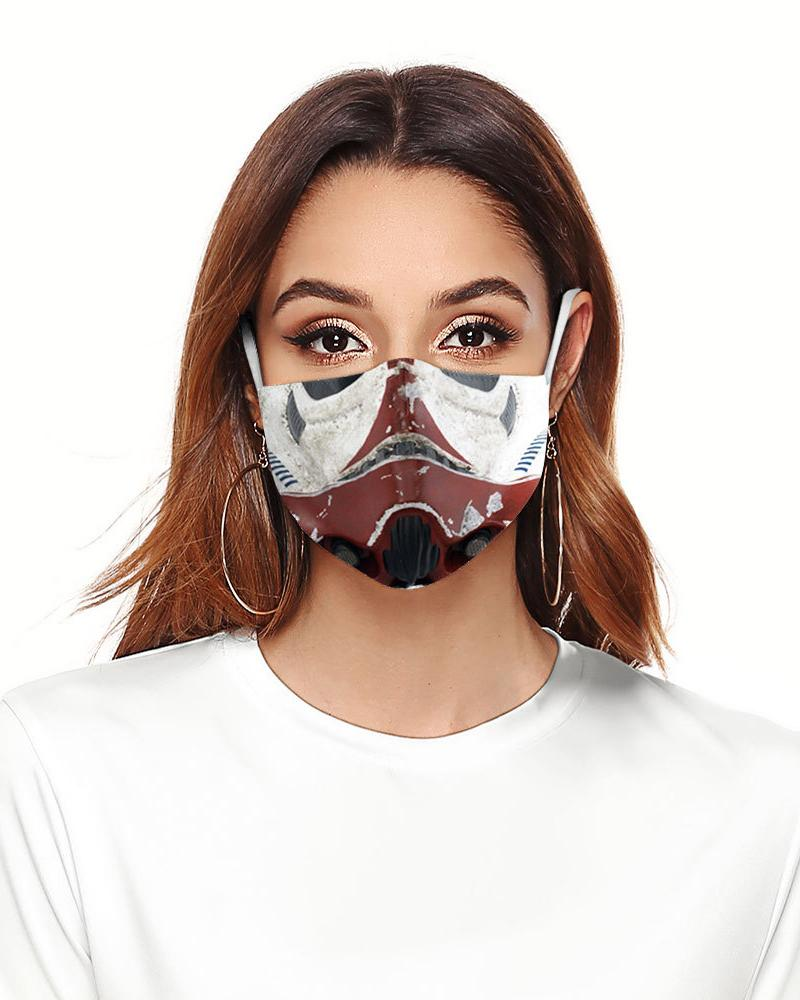 Cartoon Print Colorblock Breathable Face Mask фото