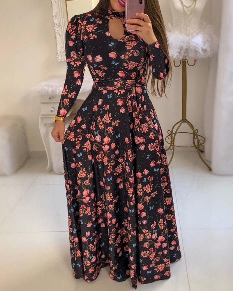 ivrose / Long Sleeve Cutout Maxi Dress